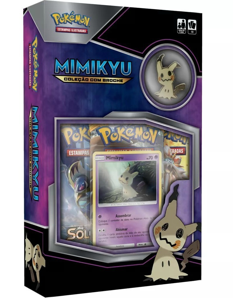 Card Mini Box Pokemon: Mimikyu - Copag