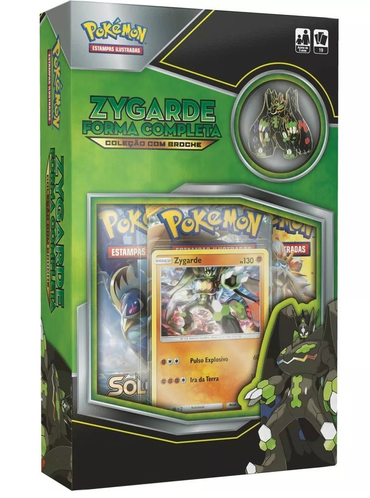 Card  Mini Box Pokemon: Zygarde - Copag