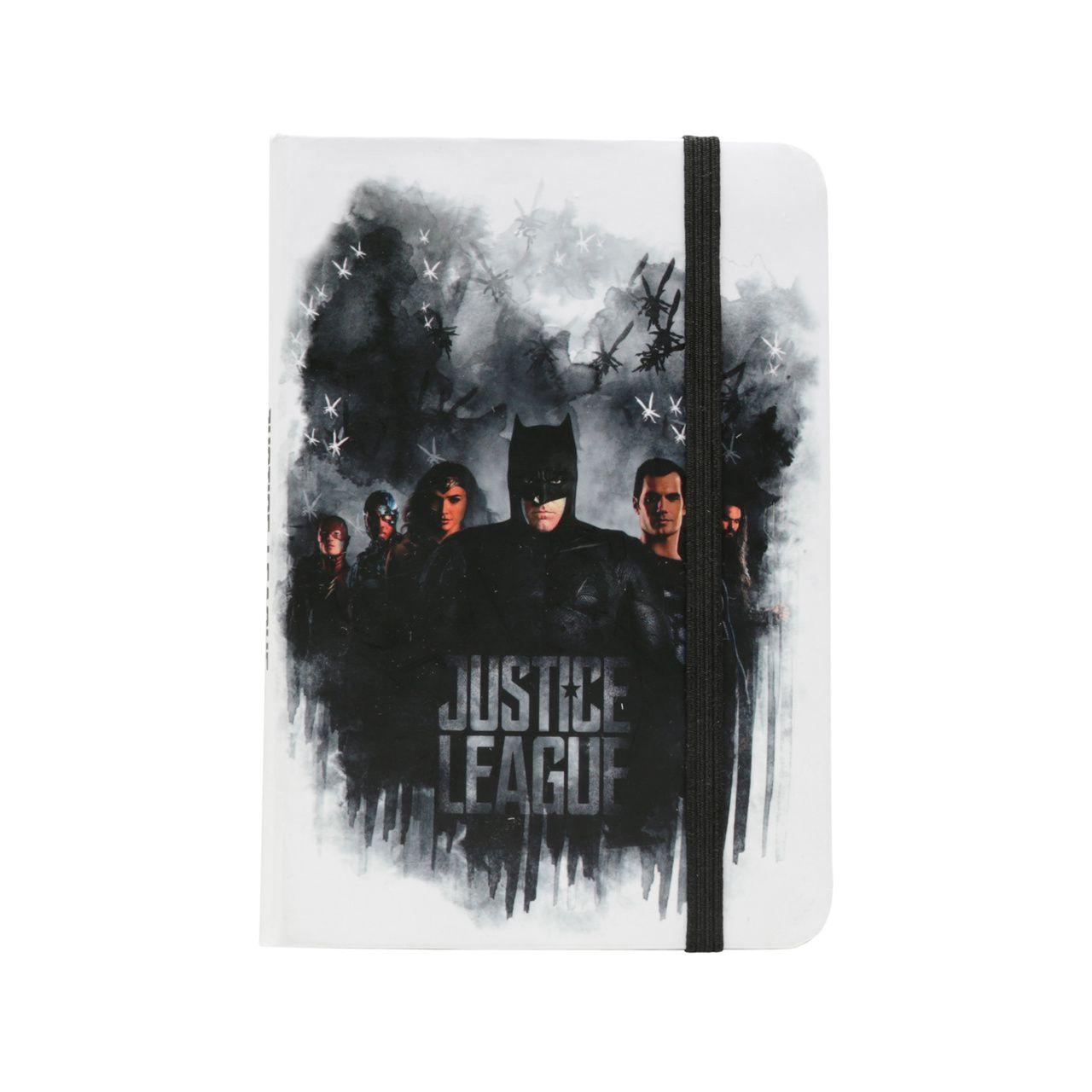 Mini Caderneta de Anotações Liga Da Justiça Fundo Branco (A6) - Urban