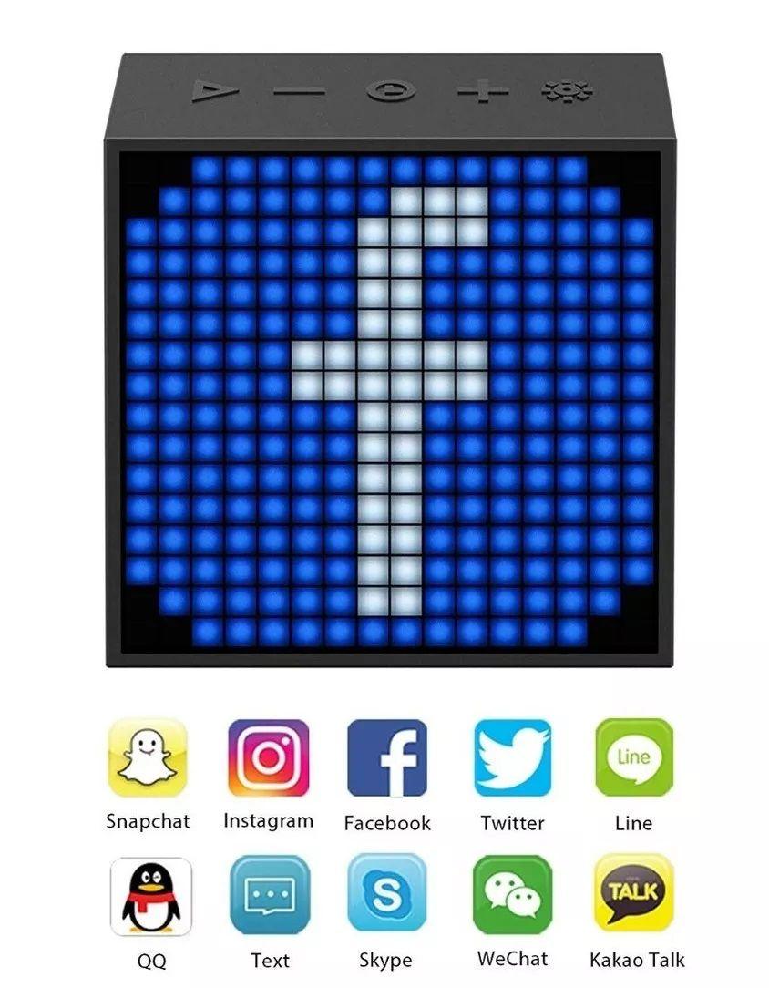 Mini Caixa de Som Bluetooth Multimídia Tivoo Timebox-Evo - Divoom
