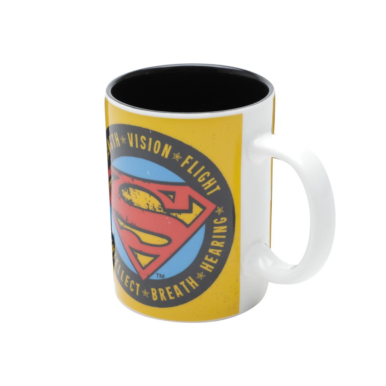 Mini Caneca de Porcelana: Logo Superman Dc Comics ( Amarelo ) - Urban