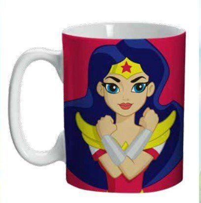 Mini Caneca Mulher-Maravilha (Wonder Woman): DC SuperHero Girls - (135ML)