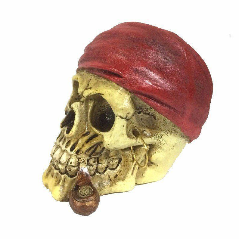 Mini Caveira Pirata (Bandana Vermelha) - Urban