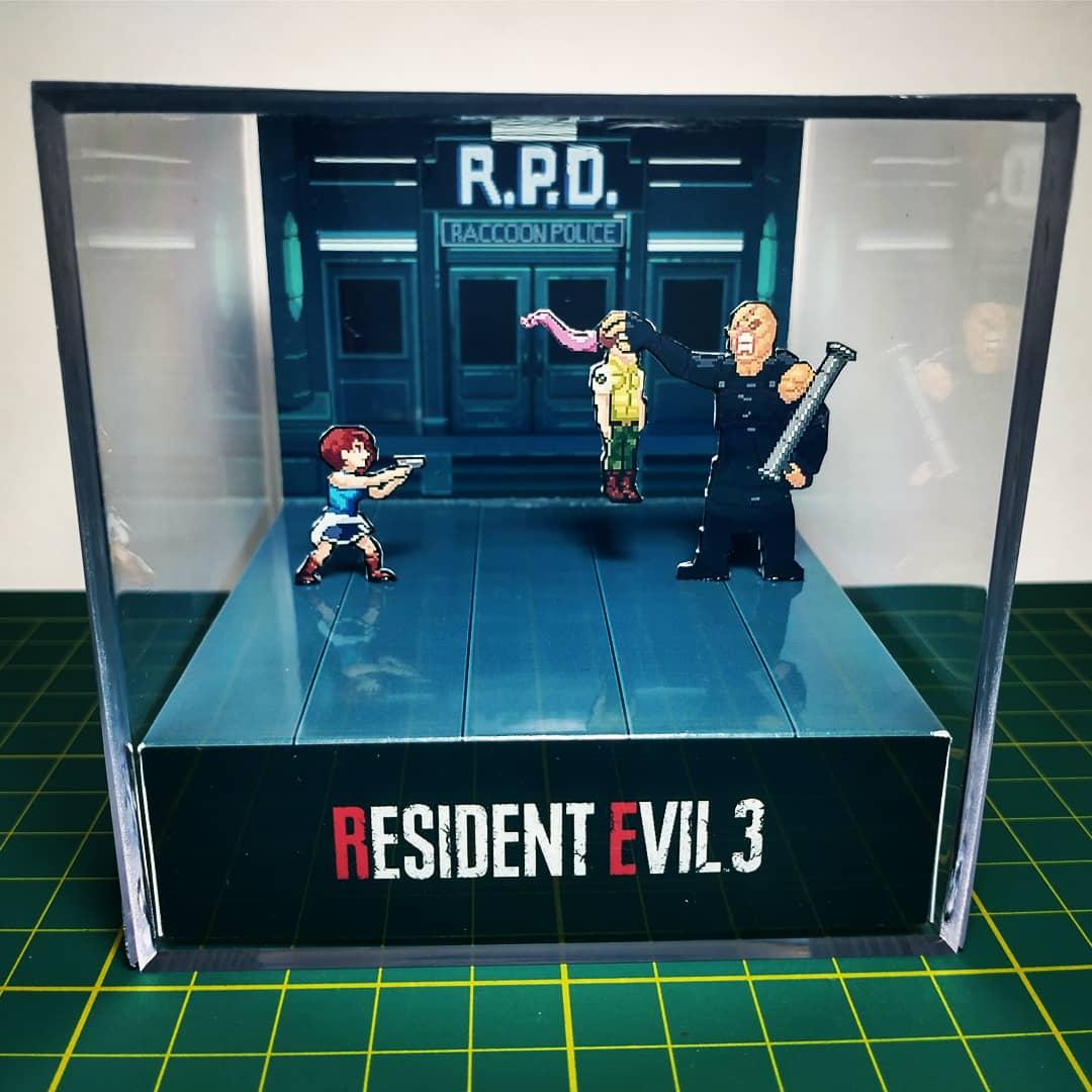 Mini Cubo 3D Jill Valentine Vs Nemesis: Resident Evil 3 - EV