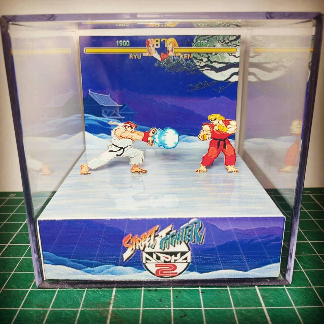 Mini Cubo 3D Ryu Vs Ken: Street Fighter Alpha 2 - EV