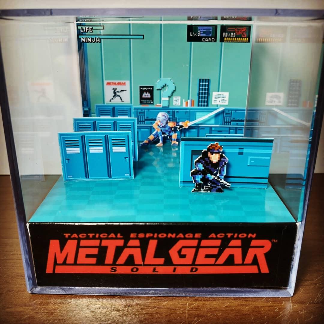 Mini Cubo 3D Solid Snake Vs Gray Fox: Metal Gear Solid - EV