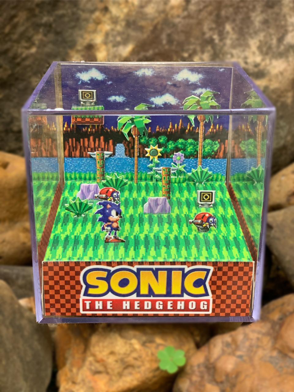 Mini Cubo 3D: Sonic