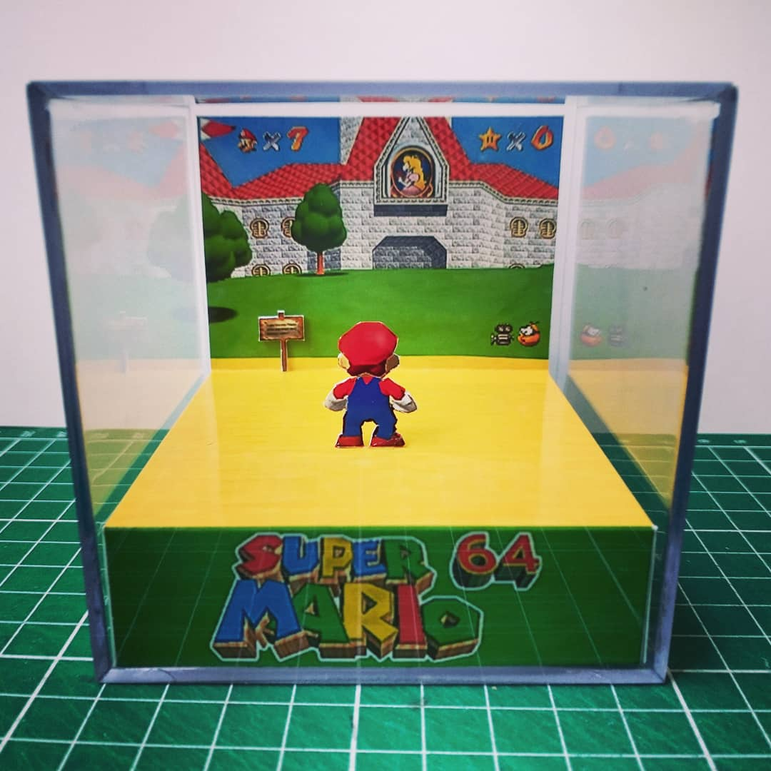 Mini Cubo 3D Super Mario 64 - EV