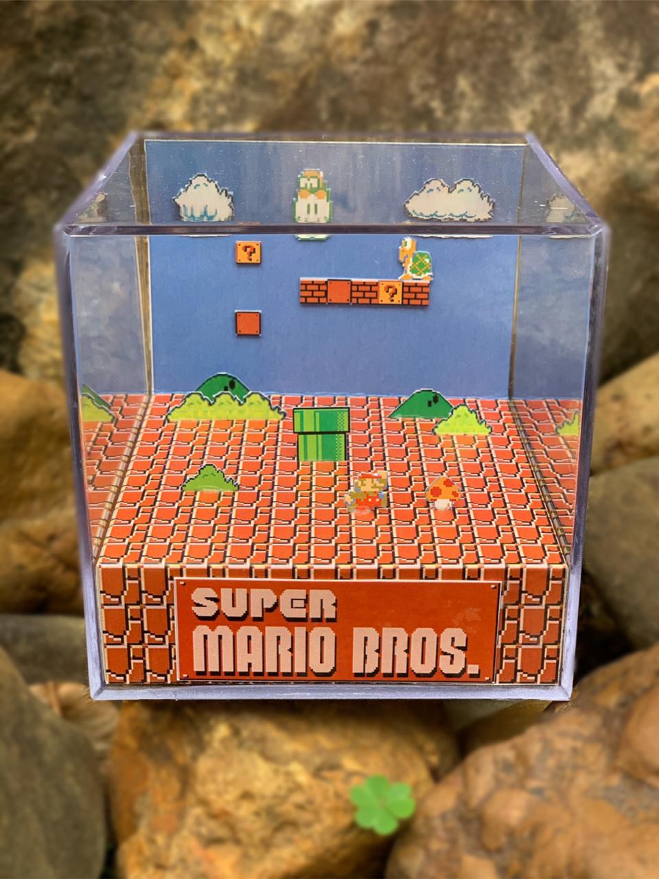 Mini Cubo 3D: Super Mario Bros. (Clássico - Fase 1)