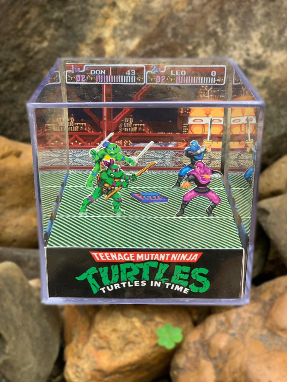 Mini Cubo 3D: Teenage Mutant Ninja Turtles Turtles In Time IV: Tartarugas NInjas IV: (Fase 1 )