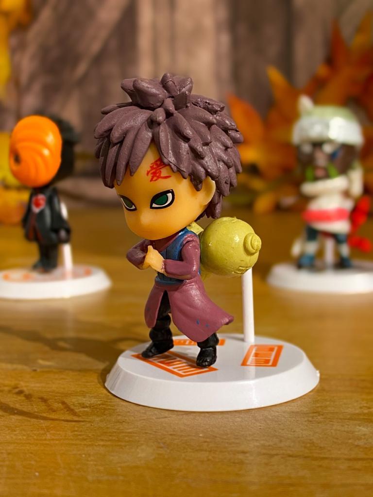 Mini Estátua Chibi Gaara: Naruto Shippuden - Anime Mangá