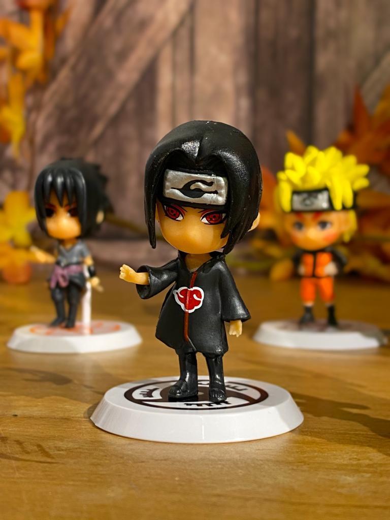 Mini Estátua Chibi Itachi Uchiha: Naruto Shippuden  - Anime Mangá
