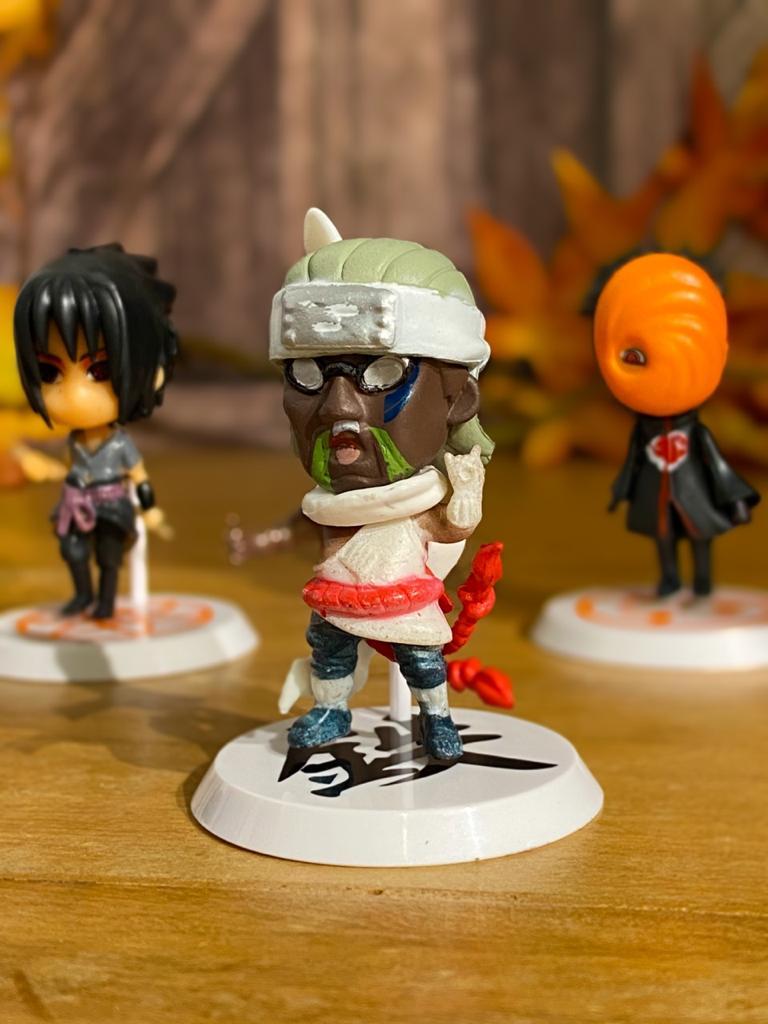 Mini Estátua Chibi Killer Bee: Naruto Shippuden - Anime Mangá