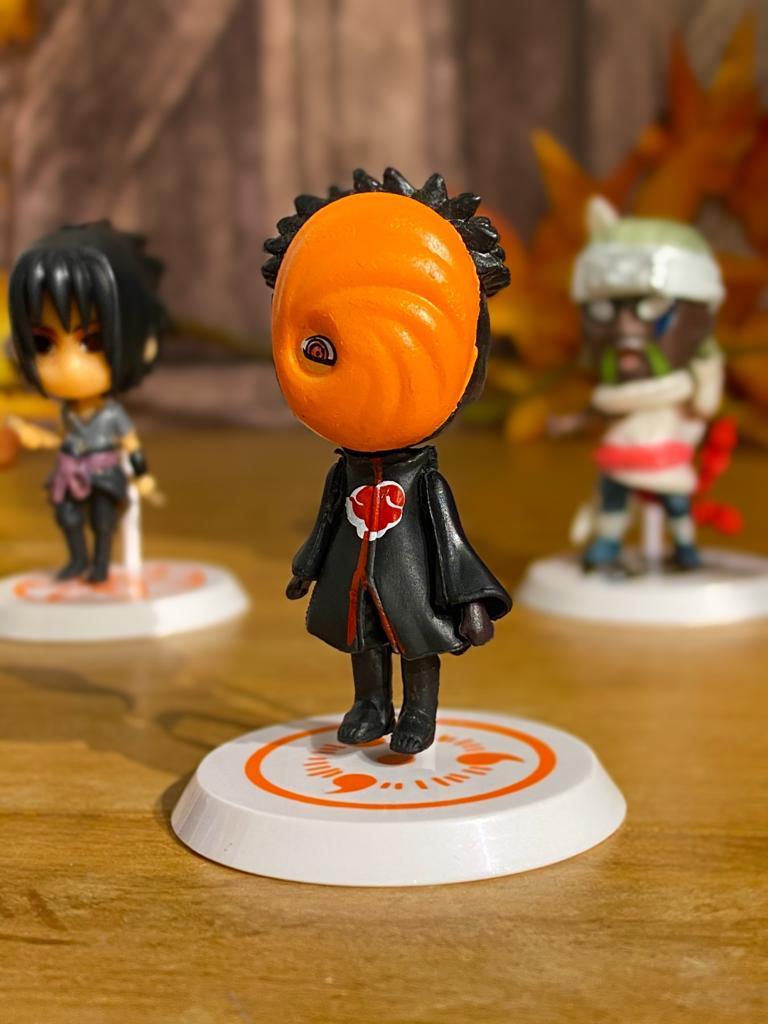 Mini Estátua Chibi Obito Uchiha: Naruto Shippuden - Anime Mangá