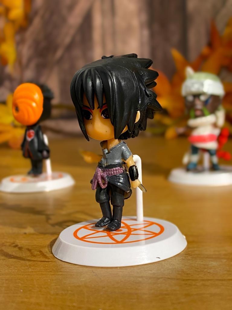 Mini Estátua Chibi Sasuke Uchiha: Naruto Shippuden - Anime Mangá