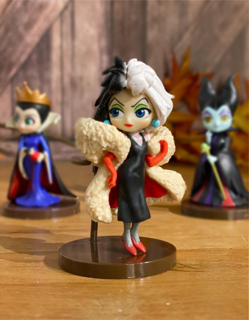 Mini Estátua Cruela: Vilãs Disney