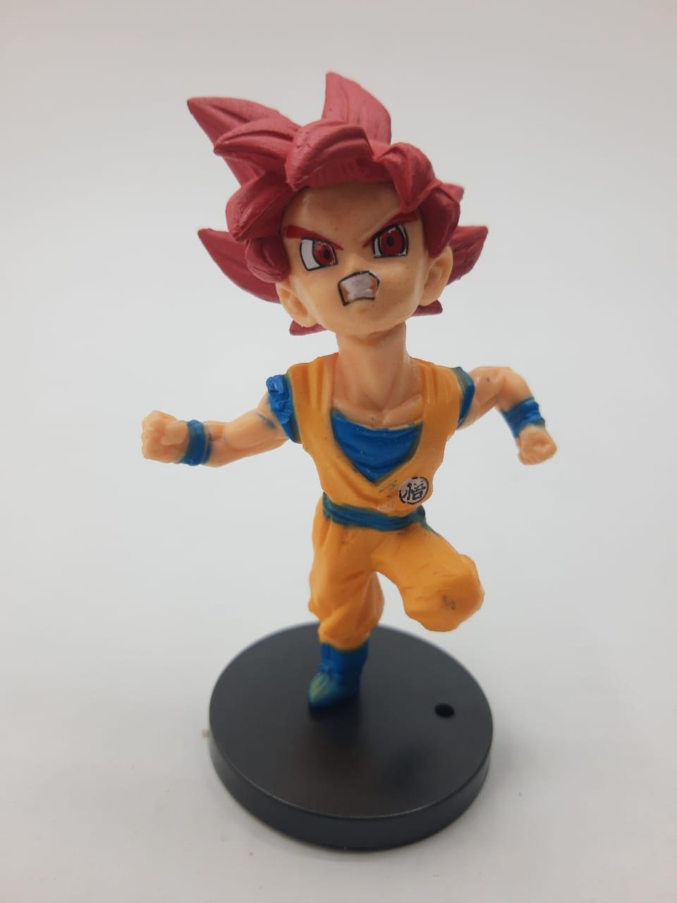 Mini Estátua Goku Super Sayajin Deus (Voando): Dragon Ball Super