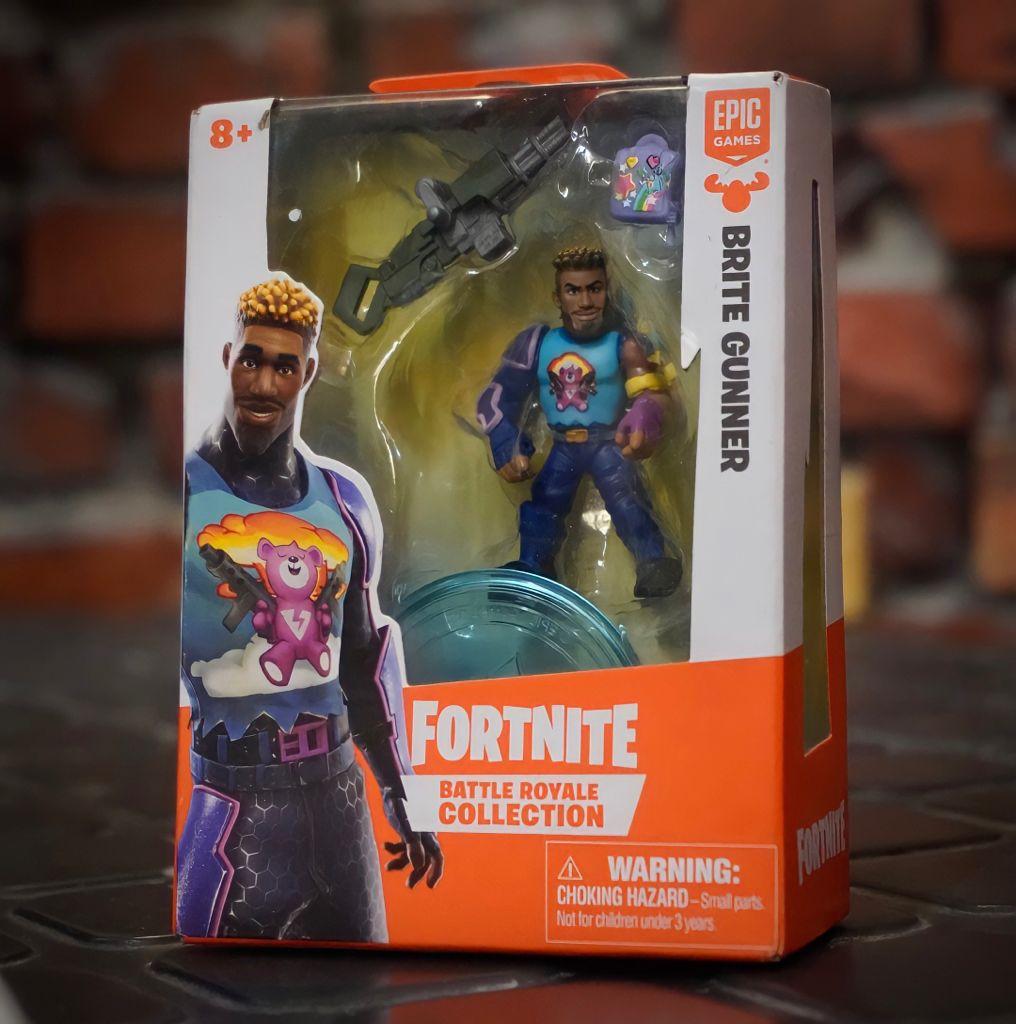 Mini Figura Brite Gunner (Battle Royale Collection): Fortnite