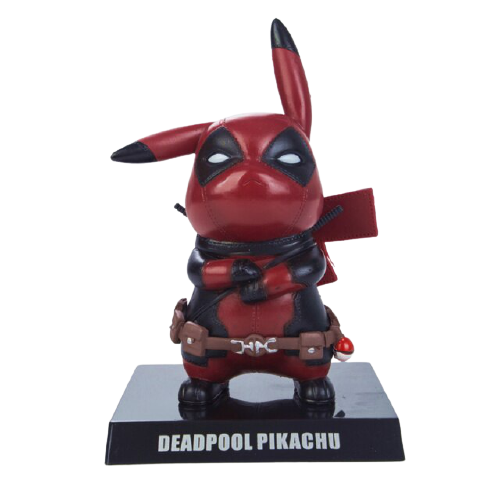 Mini Figura Estátua Pikachu Deadpool : Pokémon - Marvel - Anime Mangá - EVALI