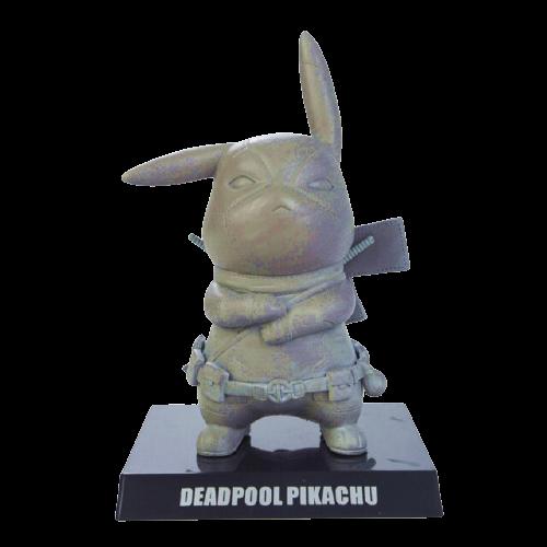 Mini Figura Estátua Pikachu Deadpool Stone : Pokémon - Marvel - Anime Mangá - EVALI