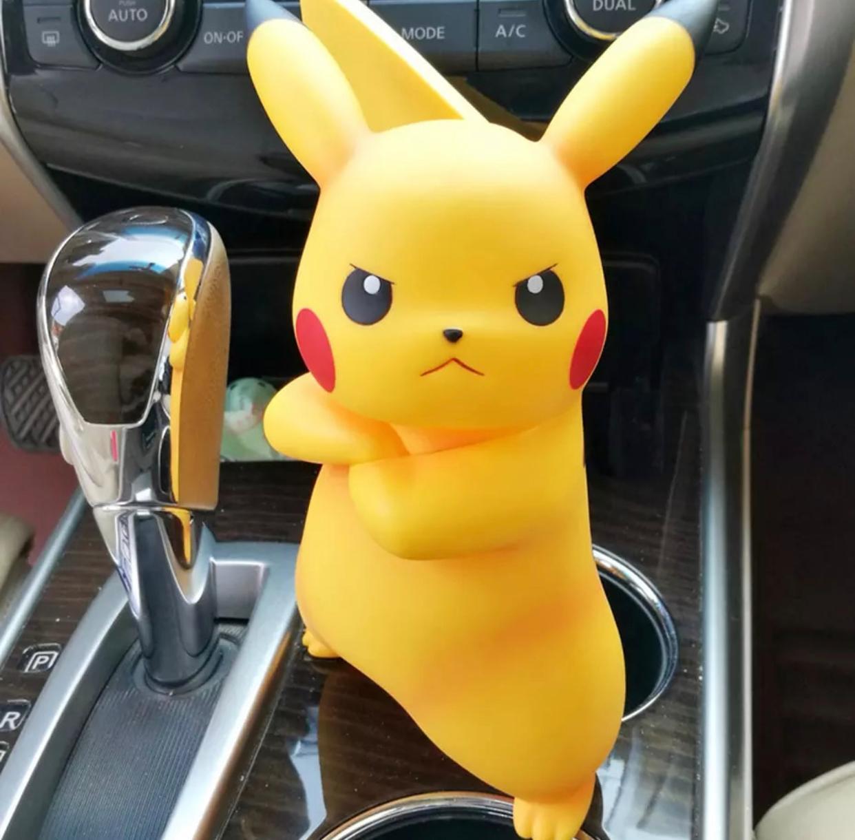 Figura Estátua Pikachu Irritado Pokémon 18 cm