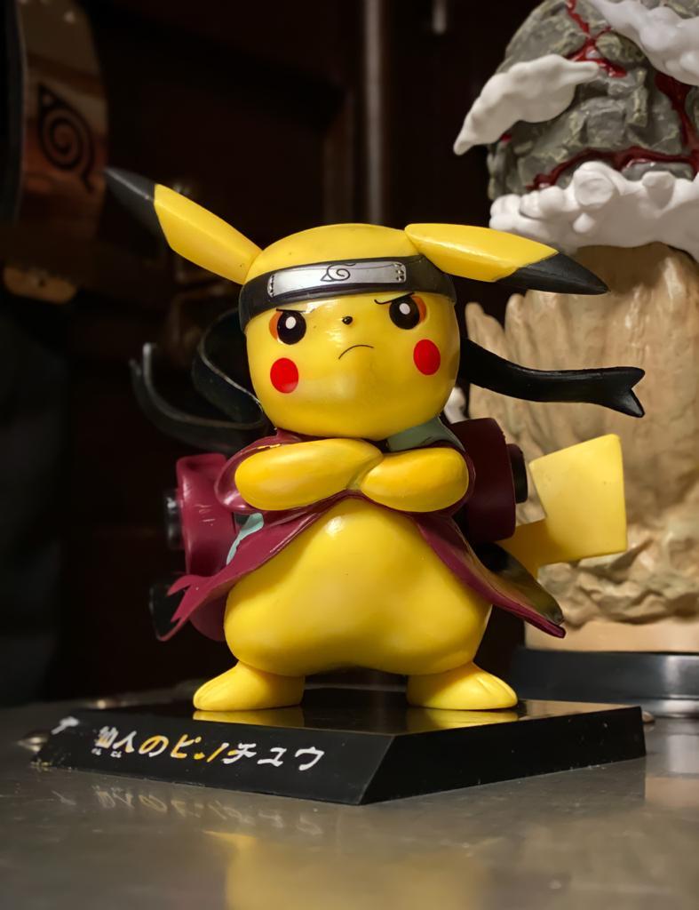 Mini Figura Estátua Pikachu Modo Sábio Naruto Shippuden Pokémon - MKP
