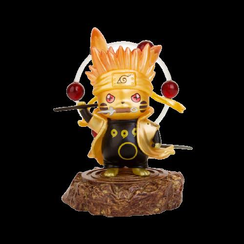 Mini Figura Estátua Pikachu Naruto Sábio dos Seis Caminhos : Pokémon - Naruto Shippuden - Anime Mangá - MKP