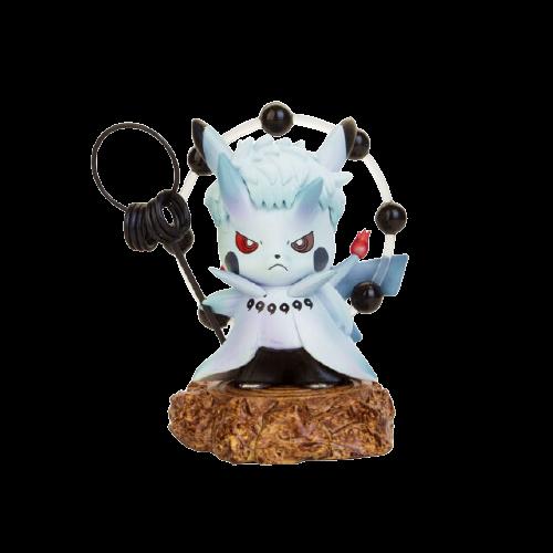 Mini Figura Estátua Pikachu Obito Sábio dos Seis Caminhos : Pokémon - Naruto Shippuden - Anime Mangá - MKP