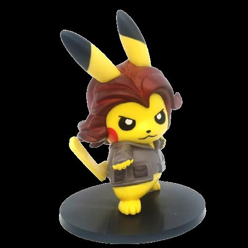 Mini Figura Estátua Pikachu Viúva Negra : Pokémon Vingadores Avengers - Marvel - Anime Mangá - MKP