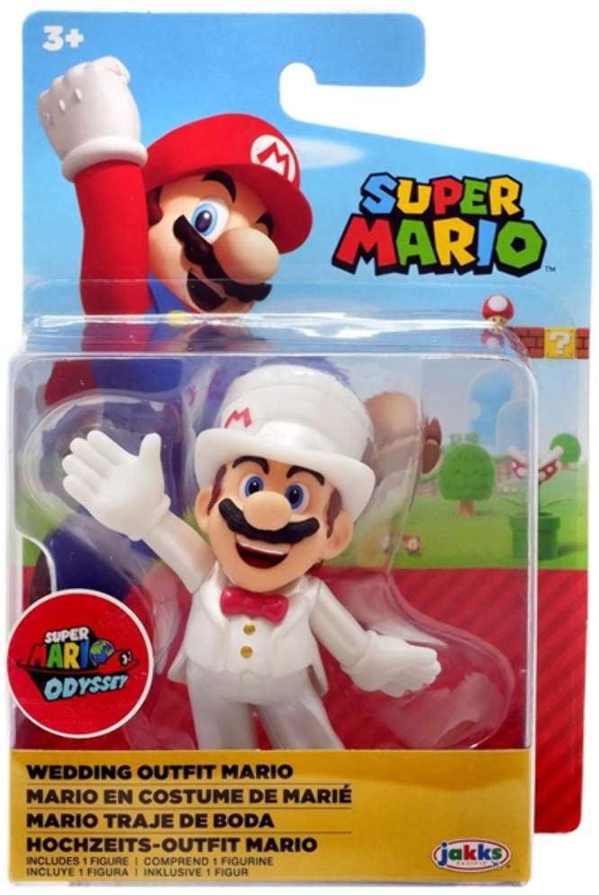Mini Figura Mario Roupa de Casamento: Super Mario Odyssey - Jakks Pacific