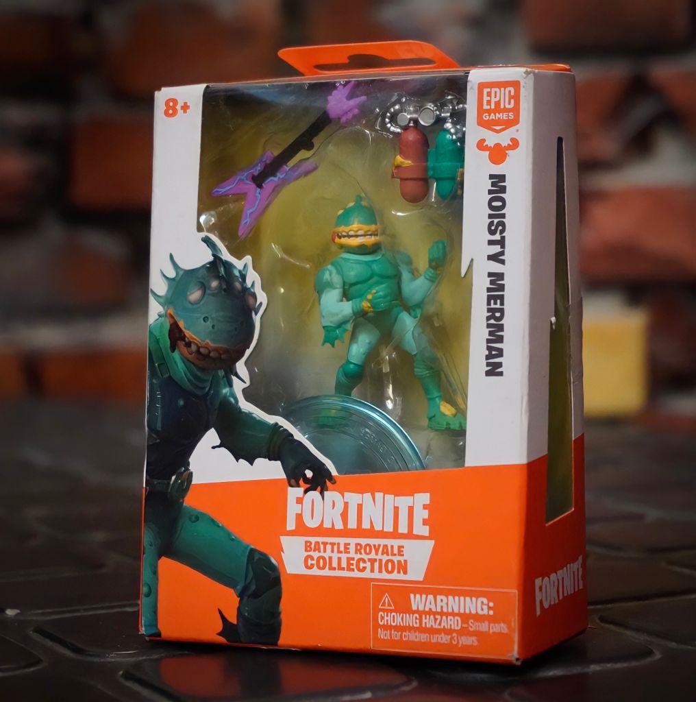 Mini Figura Moisty Merman (Battle Royale Collection): Fortnite