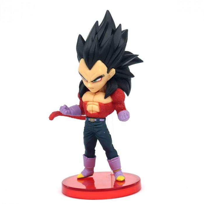 Mini Figura Estátua Vegeta Super Saiyan 4 World Collectible Figure: Dragon Ball GT Anime Mangá - Banpresto Bandai