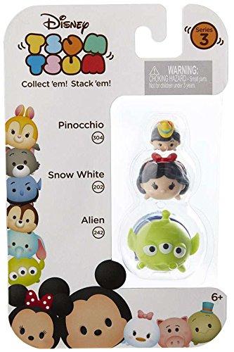 Mini Figuras Pinóquio (304), Branca de Neve (202) & Alien (242): Disney Tsum Tsum Series 3