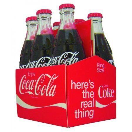 Mini Garrafas Coca-Cola Filled Six Pack