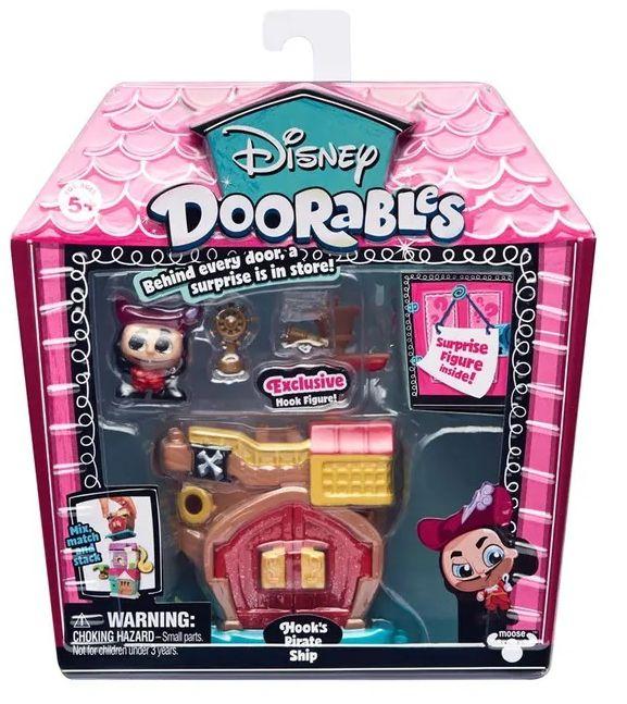 Mini Playset Doorables: Navio Pirata do Capitão Gancho (Disney) - DTC