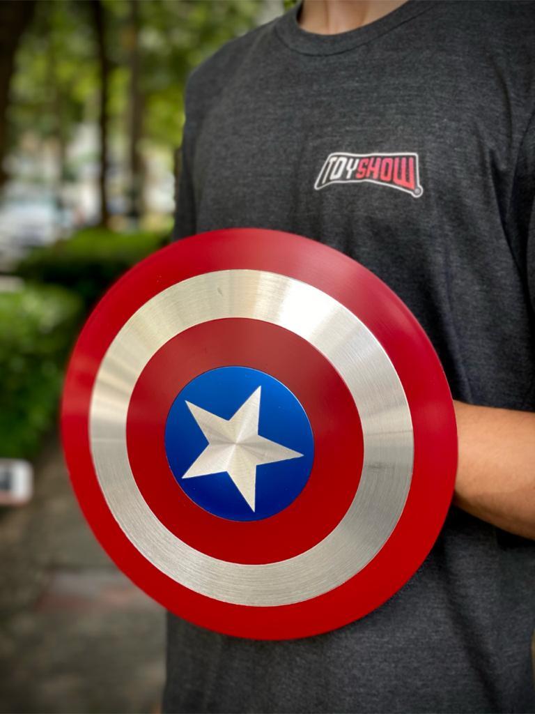 Mini Réplica Em Metal Escudo Capitão América: Marvel ( 30cm )