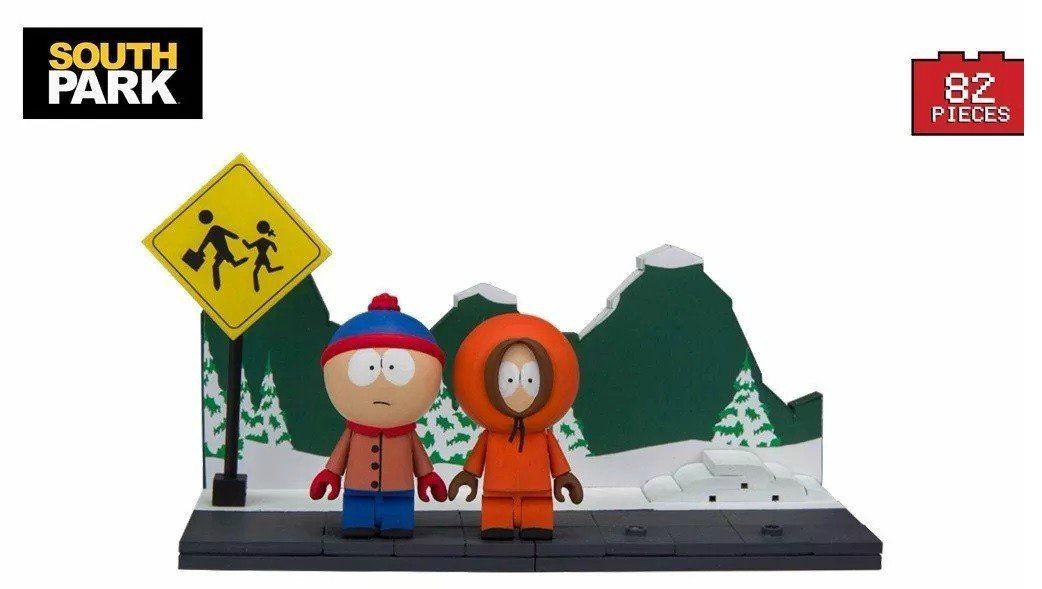 Mini Set de Construção Stan & Kenny (Bus Stop): South Park com 83 Peças - Mcfarlane Toys