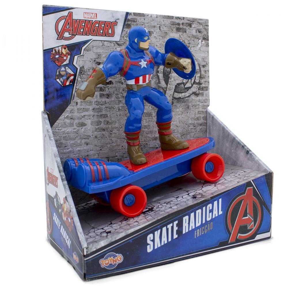 Mini Skate de Fricção Capitão América: Vingadores (Avengers) - Toyng