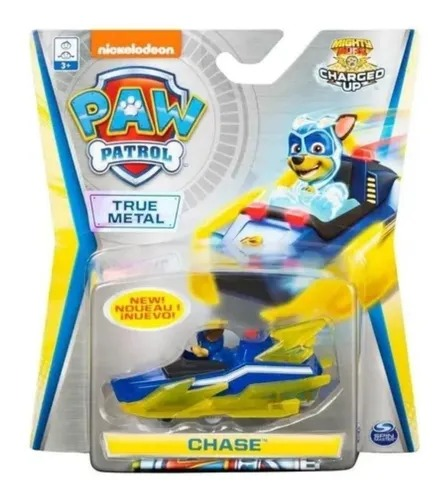 Mini Veículo Metal Patrulha Canina (Paw Patrol) Chase Mighty Pups Charged Up - Sunny