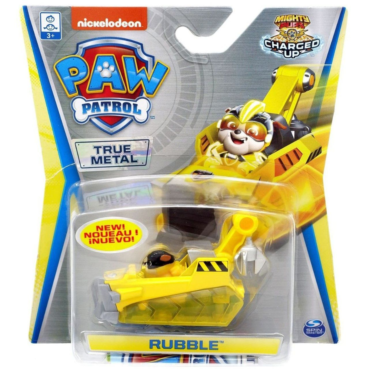 Mini Veículo Patrulha Canina (Paw Patrol) Resgate Extremo - Rubble Charged Up - Sunny