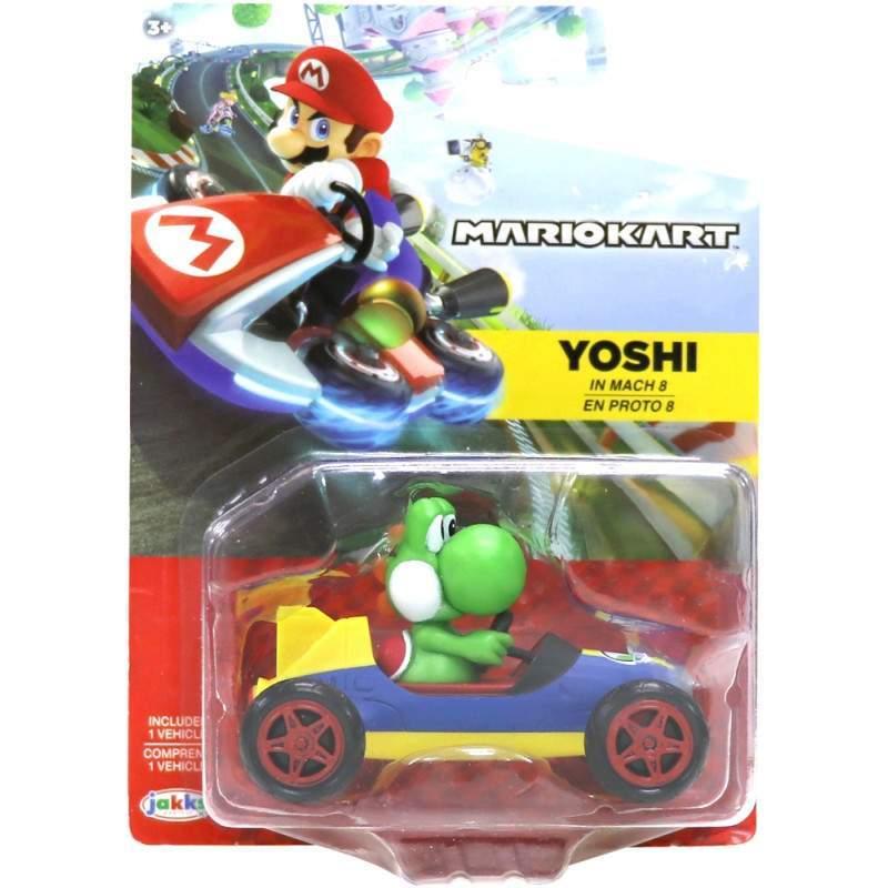 Mini Veiculo Yoshi Mach 8/Proto 8: Mario Kart 8 - Jakks Pacific