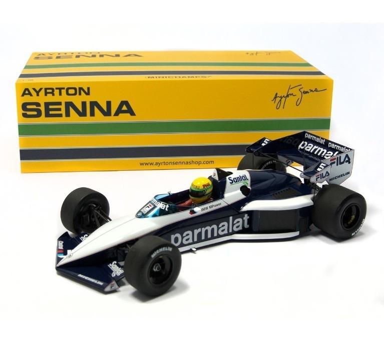 Miniatura Brabham BMW Bt52B Test Car: Ayrton Senna Escala 1/18 - Minichamps