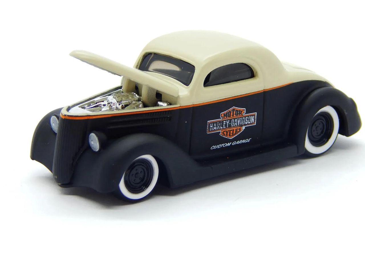 Miniatura 1936 Ford Coupe: Harley Davidson (Escala 1/64) - Maisco