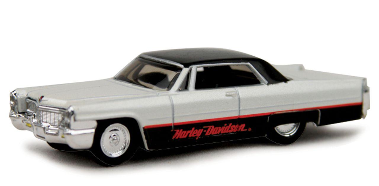 Miniatura 1965 Cadillac Deville: Harley Davidson (Escala 1/64) - Maisco