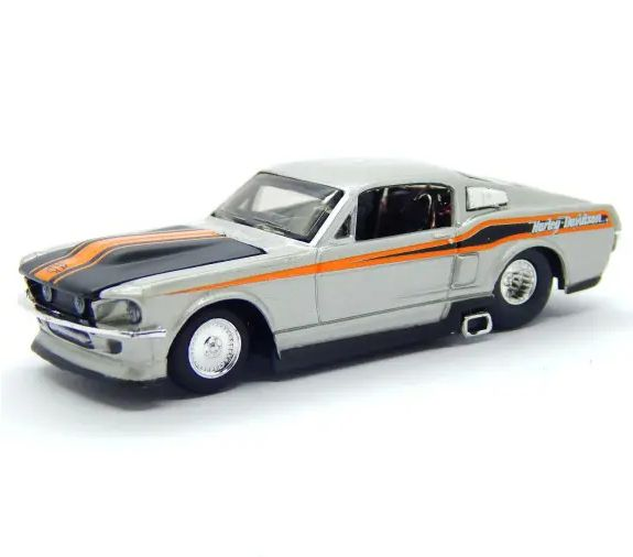 Miniatura 1967 Ford Mustang GT: Harley Davidson (Escala 1/64) - Maisco