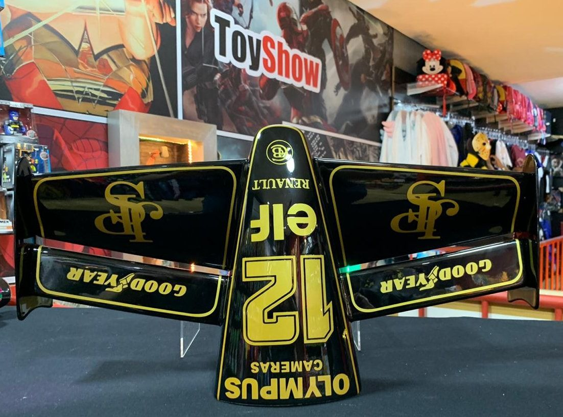 Miniatura Bico Fórmula 1 (F1): Team Lotus Renault (Ayrton Senna) - CG