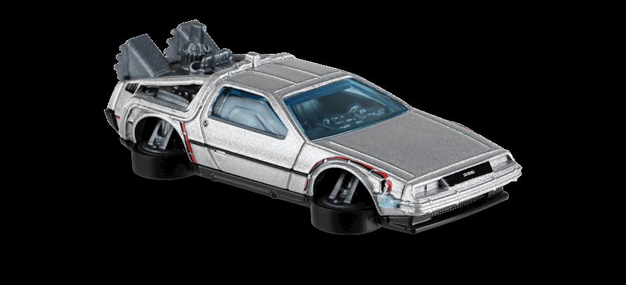Miniatura Carro Colecionável Delorean Time Machine Hover Mode: De Volta Para o Futuro Back To The Future 2 - Hot Wheels