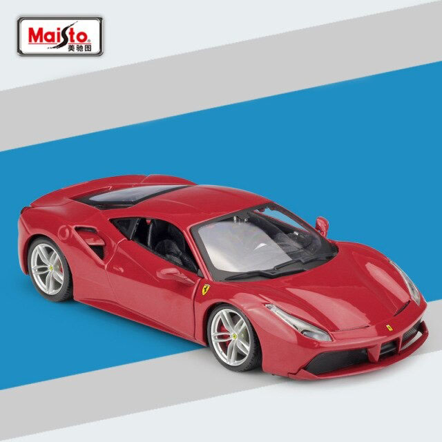 Miniatura Carro Colecionável Ferrari 488 GTB Diecast Escala 1/24 - Maisto - MKP