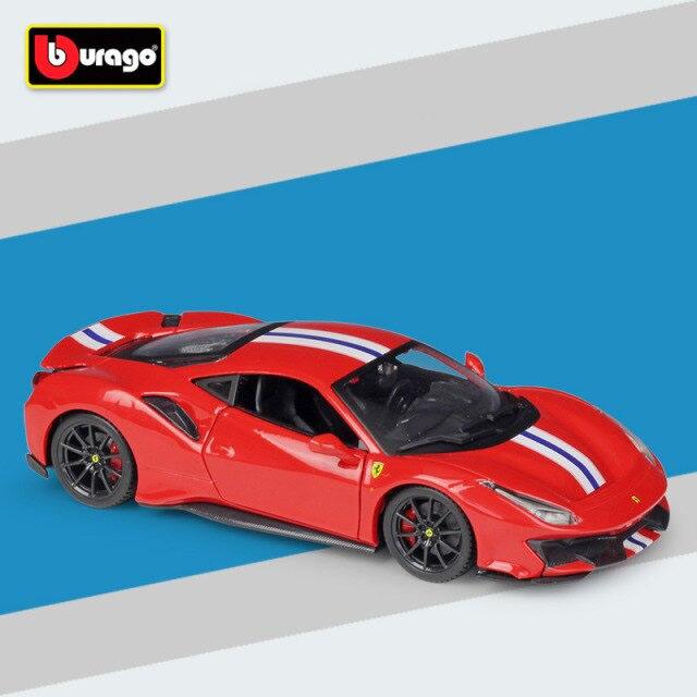 Miniatura Carro Colecionável Ferrari 488 Plsta Diecast Escala 1/24 - Bburago - MKP