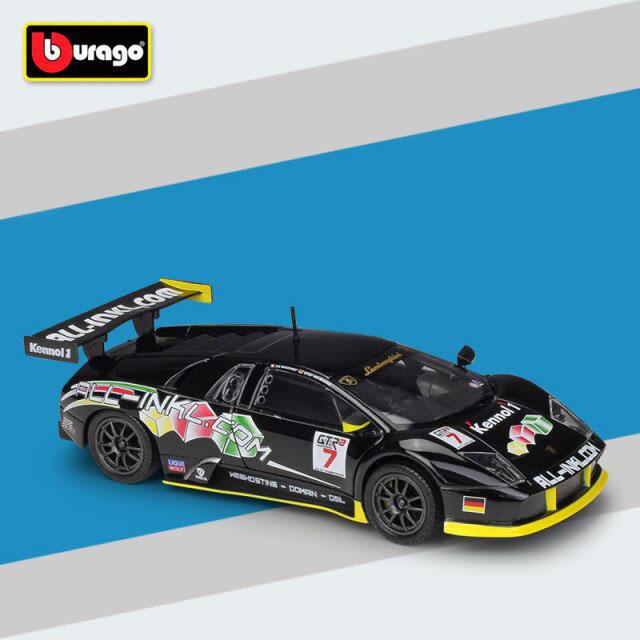 Miniatura Carro Colecionável Lamborghini Murcielago Fia Gt Diecast Escala 1/24 - Bburago - EVALI